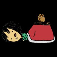 手書き風,人物,こたつ,炬燵,コタツ,家電,電化製品,寝る,涎,よだれ,うたた寝,冬,12月,1月,2月,寒い,暖かい,気持ちいい,風邪,女性