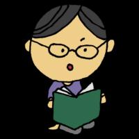 手書き風,人物,本,読む,眼鏡,メガネ,めがね,ほん,読書,勉強,研究,図書,書籍,男性