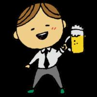 飲み会,打ち上げ,ビール,飲み物,男性,乾杯,手書き風,人物,送別会,歓迎会,社会人,大人,ビジネス,接待