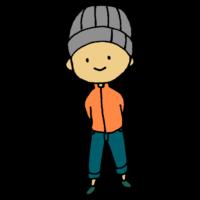 手書き風,人物,男性,ニット帽,冬,ファッション,被る,温かい,おしゃれ,かっこいい,スタイリッシュ,細身,細い,華奢,笑顔,ジーンズ
