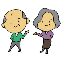 老夫婦のフリーイラスト