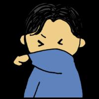 手書き風,人物,男性,咳エチケット,咳,医療,エチケット,マナー,せき,セキ,上着,袖,覆う