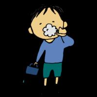歯を磨く男の子のフリーイラスト
