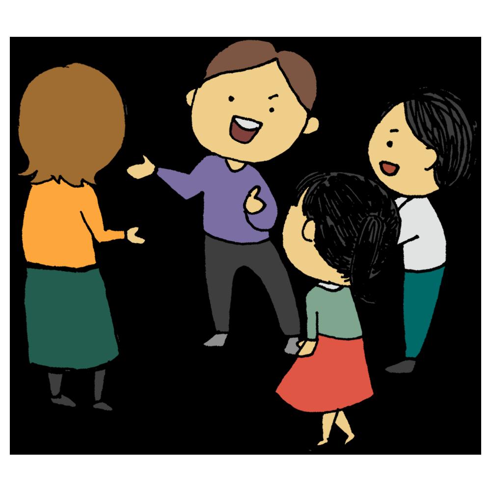 手書き風,人物,人,医療,コロナ,コロナウィルス,コロナウイルス,コロナウイルス対策,感染,対策,予防,三密,さんみつ,密,間近,会話,発声,密接,近い,接する,発言,話す,トーク,おしゃべり