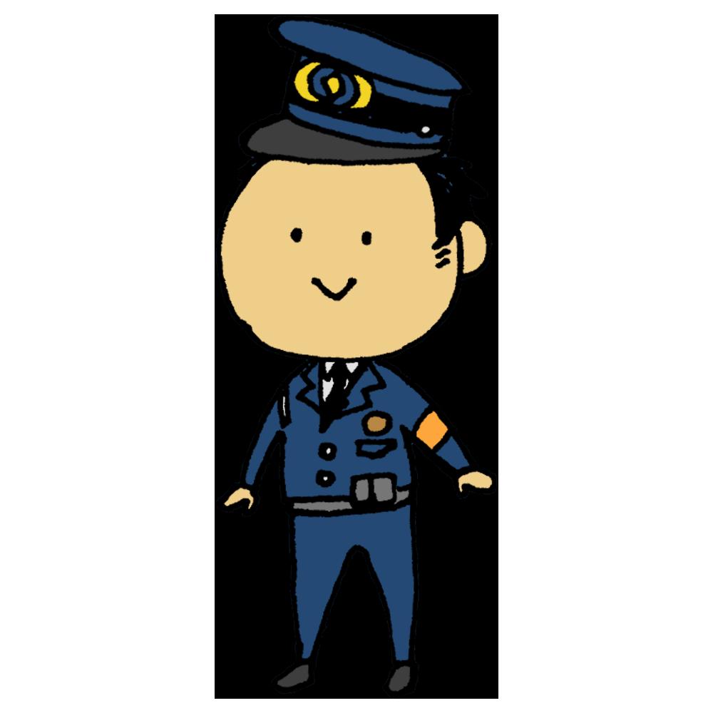 手書き風,人物,男性,職業,警察官,国,守る,仕事,働く,地域,日本,警察法,警察庁,都道府県警察,公安職,警察職員,個人の生命,身体及び財産の保護,犯罪の予防,公安の維持,忠実,遂行,任務,取り締まる,犯罪