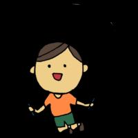 手書き風,人物,縄跳び,男の子,スポーツ,ダイエット,跳ねる,跳ぶ,なわとび,ナワトビ,体育,授業,学校,ジャンプ,とぶ,縄跳