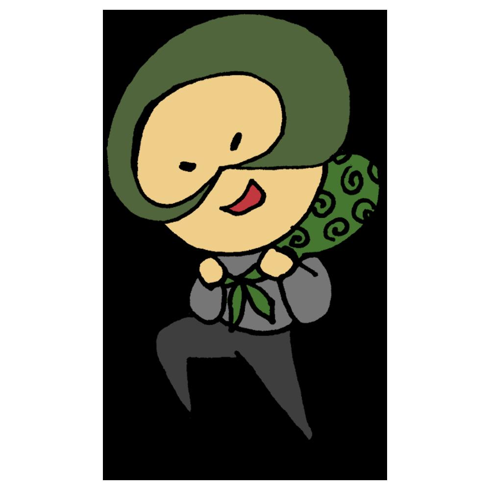 泥棒の男性のフリーイラスト
