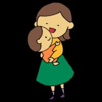 手書き風,女性,人物,赤ちゃん,子供,ベイビー,ベビー,赤ん坊,抱っこ,抱きしめる,愛,可愛い,愛しい,母親,お母さん,家族,ママ,小さい,ぎゅ,好き,育児,子育て,母,男の子,女の子
