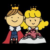 手書き風,人物,女の子,お姫様,物語,お話,おとぎ話,姫,プリンセス,姫様,ひめ,憧れ,可愛い,ドレス,国,役,演劇,夢,冠,国王,子供,王冠,王子,男の子,衣装