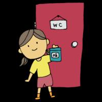 手書き風,人物,女の子,尿検査,検査,健診,検診,おしっこ,尿,健康,腎臓病,膀胱,尿管,尿道,病気,医療,学校,準備,保健,小学校,中学校,高校