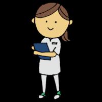 手書き風,人物,女性,カルテ,仕事,働く女性,病院,ナース,医療,医学,看護,看護師,診療所,診察,診療所,クリニック