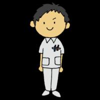手書き風,人物,男性,医療,看護師,かんごし,看護,ナース,病院,仕事,働く,国家資格,専門職,カンゴシ,病気,補助,医療現場,病気,ケガ,怪我