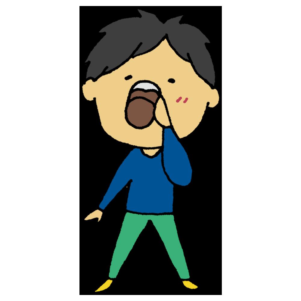 酵素ドリンクを飲む男性のフリーイラスト