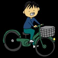 手書き風,人物,自転車,乗り物,チャリ,ちゃりんこ,じてんしゃ,ジテンシャ,サイクリング,運動,漕ぐ,走る,進む,ママチャリ,サイクリング,おでかけ,お買い物,男性
