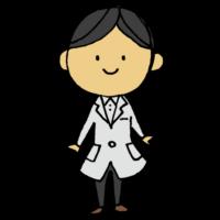 手書き風,人物,白衣,はくい,研究員,医者,保険医,男性,服,衣装,着る,羽織る,はおる,理系