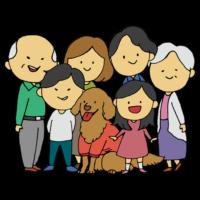 3世代家族のフリーイラスト
