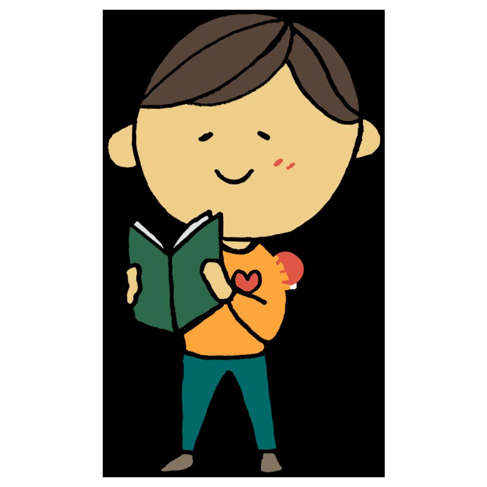手書き風,人物,本,読む,心,あたたかい,温かい,暖かい,ほっ,読書,図書,書籍,BOOK,あたたまる,男性