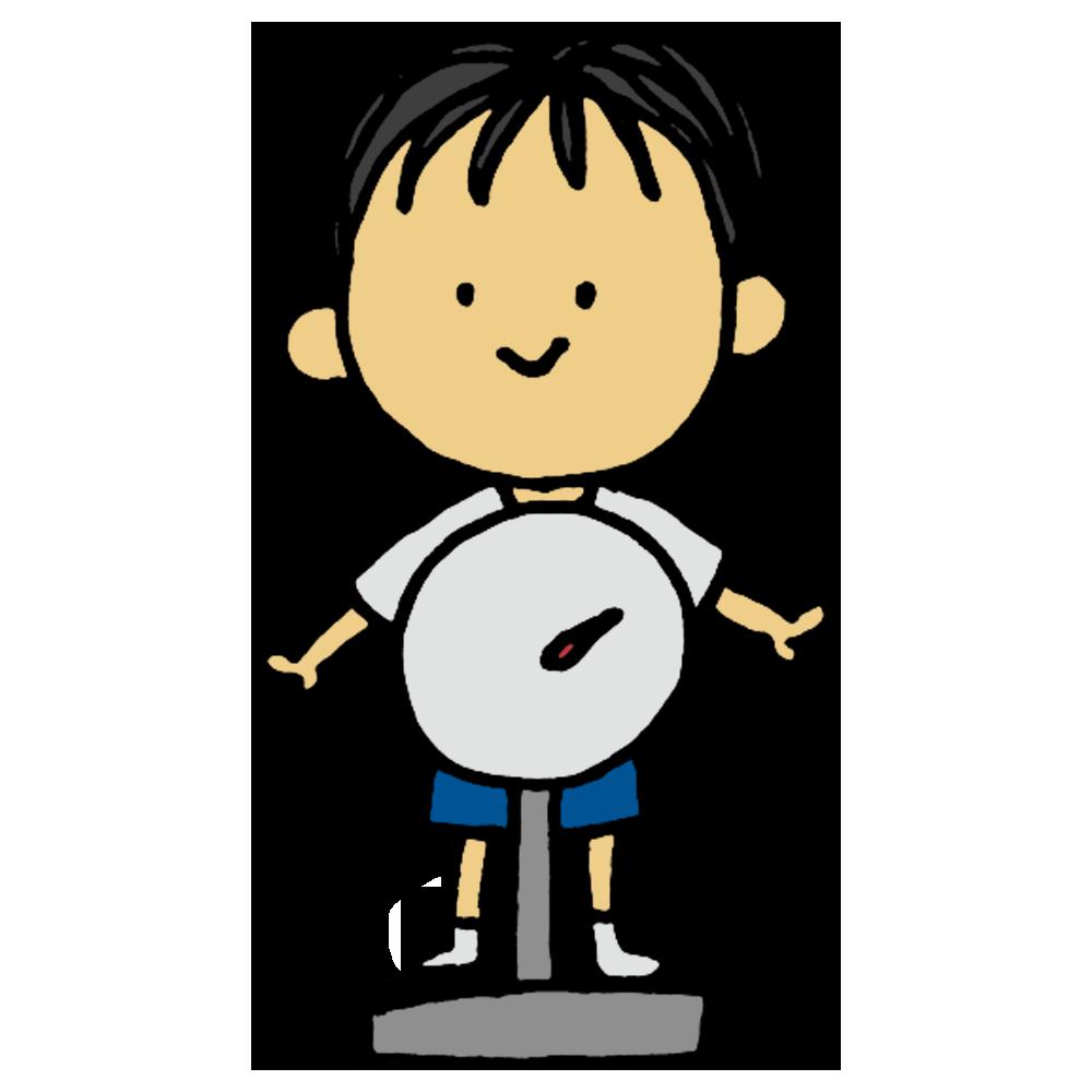 体重測定,体重,測定,男の子,小学生,中学生,子供,測る,体操着,検査,健診,健康診断,計測,身体測定,学生,学校,手書き風,人物