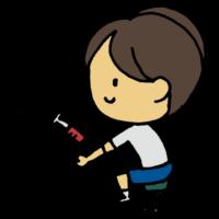 血液検査をしてもらう男の子のフリーイラスト