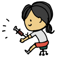 血液検査をしてもらう女の子のフリーイラスト