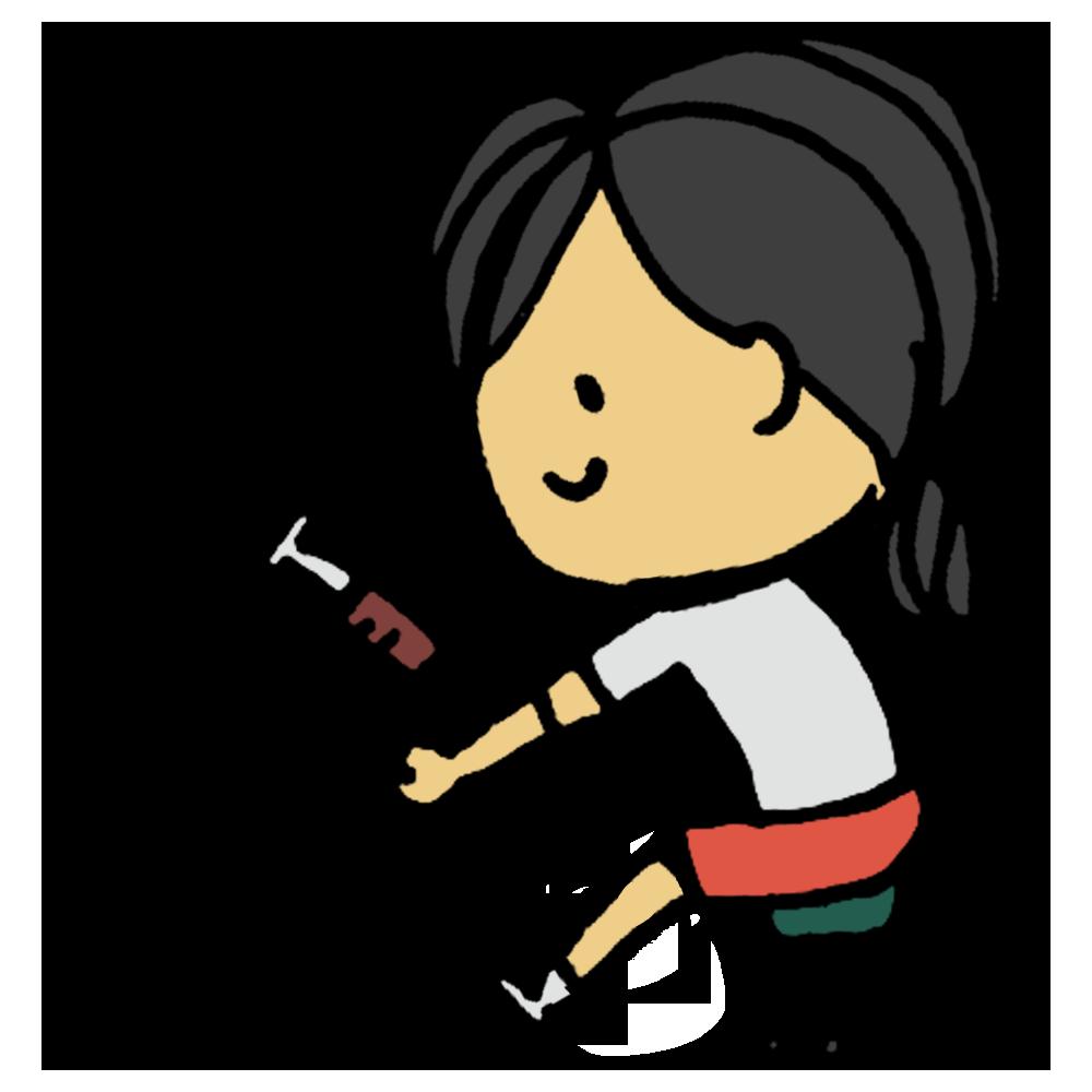血液検査,血液,検査,採血法,採血,病状,調べる,臨床検査,臨床検査技師,健診,学校,健康診断,貧血,血,注射,医療,人物,手書き風,女の子