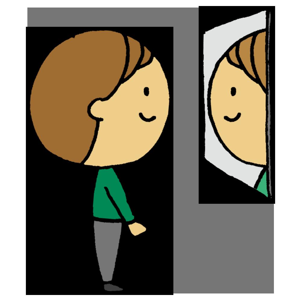 鏡,見る,男性,鏡を見る,男,ミラー,身だしなみ,顔,整える,手書き風,人物