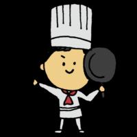 料理人の男性のフリーイラスト