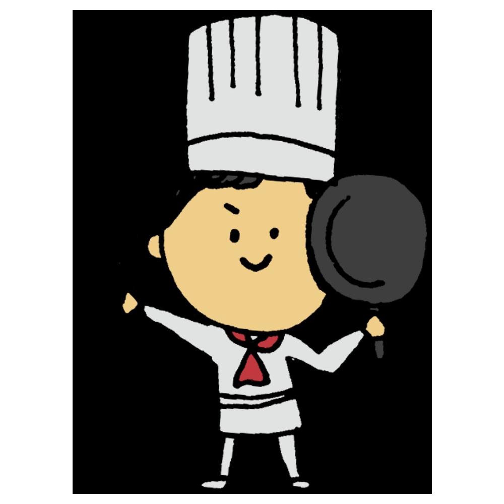 料理人,仕事,コック,シェフ,料理,作る,働く,エプロン,ご飯,レストラン,ディナー,ランチ,モーニング,ホテル,男性,人物,手書き風
