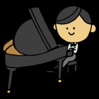ピアノを弾く男の子のフリーイラスト