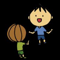 友達と話す男の子のフリーイラスト