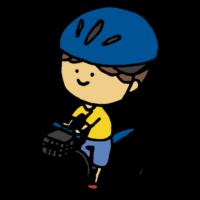 自転車に乗る男の子のフリーイラスト