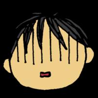 ショックを受ける男の子の顔のフリーイラスト