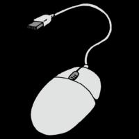 有線のマウスのフリーイラスト