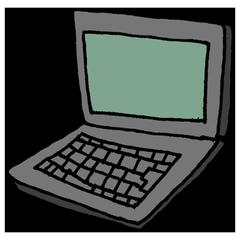 ノートパソコンのフリーイラスト