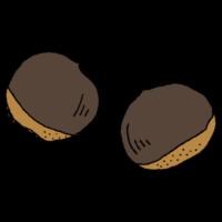 栗のフリーイラスト