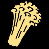 手書き風,食べ物,食材,きのこ,キノコ,茸,えのき,榎,エノキタケ,榎茸,鍋,エノキダケ