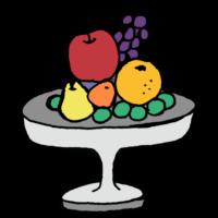 フルーツの盛り合わせのフリーイラスト