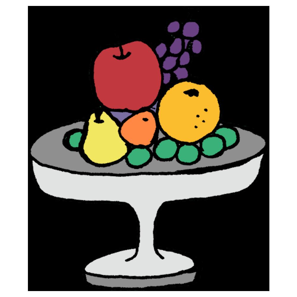 手書き風,食べ物,食材,フルーツ,フルーティー,盛り合わせ,ブドウ,果物,果実,リンゴ,オレンジ,洋ナシ,高級