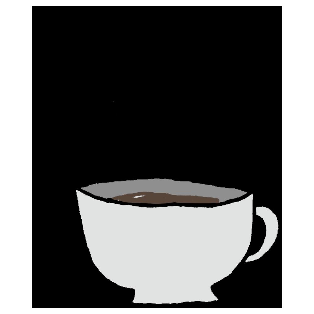 ホットコーヒーのフリーイラスト