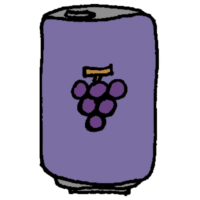 ぶどうジュースの缶のフリーイラスト