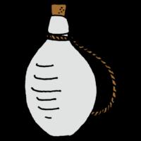 壺に入った日本酒のフリーイラスト