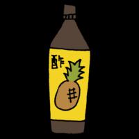パイナップルの酢のフリーイラスト
