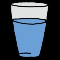 手書き風,飲み物,コップ,飲む,水分,水,ウォーター,ミネラルウォーター,飲み水,綺麗,水分補給,コップ,一杯,液体