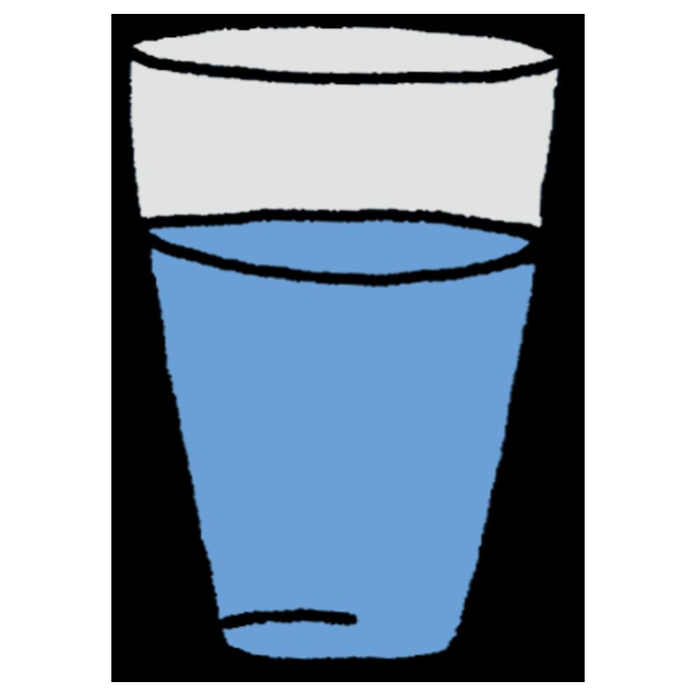 コップに入った水のフリーイラスト