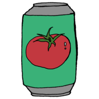 手書き風,トマトジュース,トマト,飲む,飲み物,ジュース,リコピン,栄養,健康,缶,カンカン
