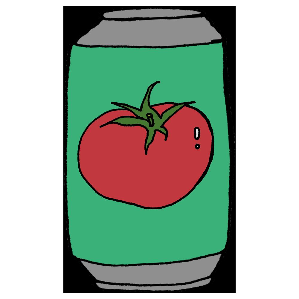 トマトジュースの缶のフリーイラスト