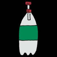 炭酸が抜けないキャップがついたペットボトルのフリーイラスト