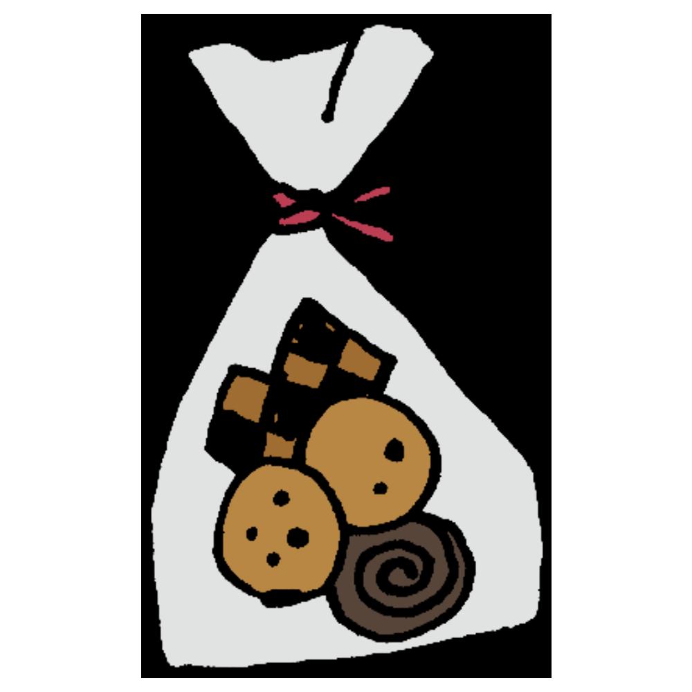手書き風,食べ物,料理,クッキー,お菓子,袋に入ったお菓子,手作り,手作りクッキー,甘い,プレゼント,バレンタイン,ホワイトデー