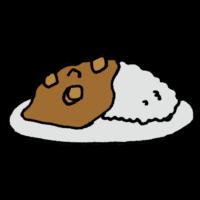 手書き風,食べ物,料理,食べる,美味しい,キャンプ,ご飯,メシ,かれーらいす,カレーライス,カレー,カレー粉,夕飯,お夕飯,晩御飯,かれー,手作り