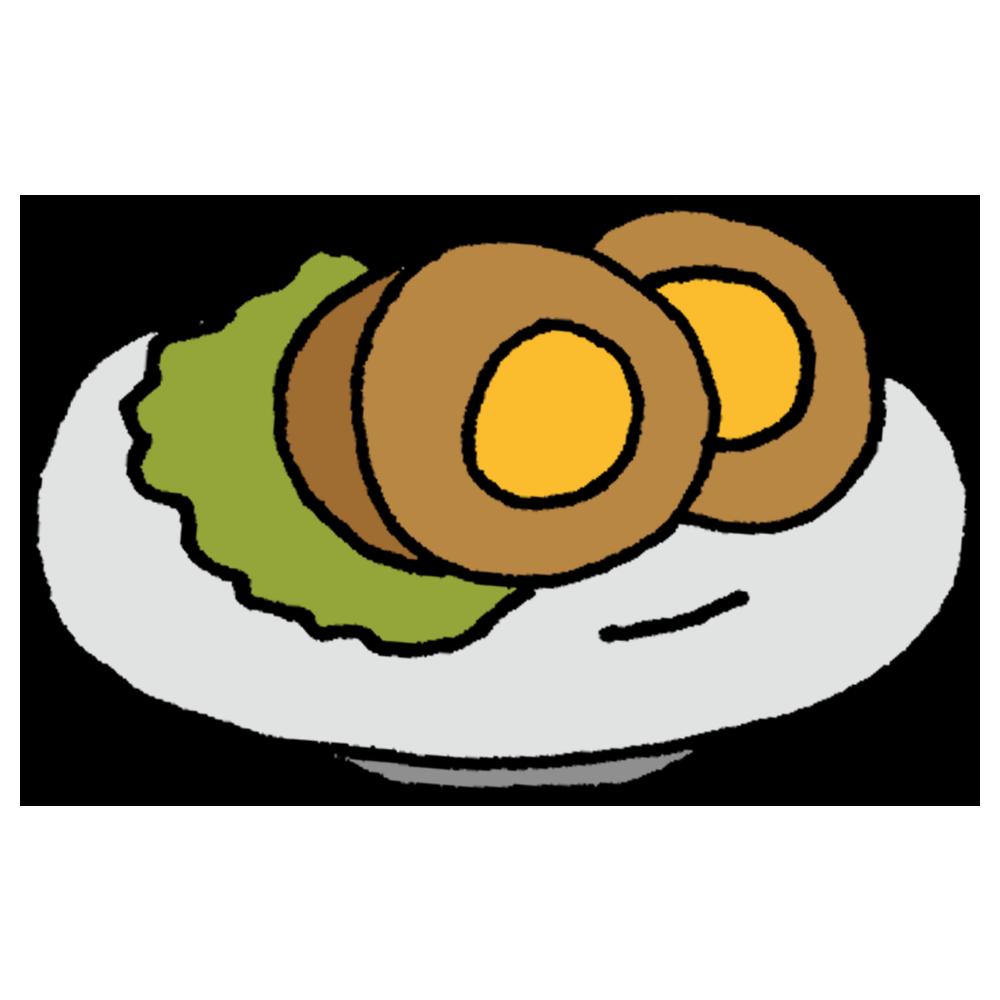 煮卵のフリーイラスト